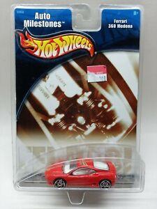 Hotwheels auto milestones Ferrari 360 Modena Factory Sealed 2001