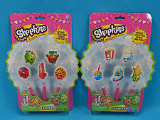 Shopkins 10 Collectable Erasers & 6 Mini Pencils School Supplies Party Favors