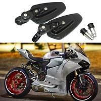 """7/8"""" Black CNC Handle Bar End Rearview Mirrors For Ducati 1199 Panigale Custom"""