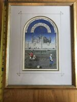 Vintage Framed Matted The Manuscript Collection October 1410-1485 Quintessa Art