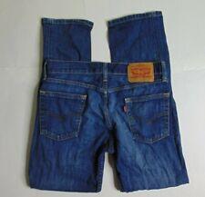 Levi's 513 Men 30 x 30 Blue Slim Straight Jeans Medium Wash Denim Cotton