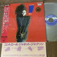 JANET JACKSON Control-The Videos JAPAN Laser Disc LD SM048-3142 w/OBI+INSERT