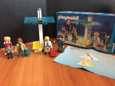 Playmobil 3171 Complete Airport Terminal Bus Stop Waiting For Shuttle 2002 Box