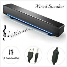 USB Wired Small Strip Surround Speakers Subwoofer Home Speaker Laptop
