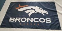 Denver Broncos NFL 3X5 Indoor Outdoor Banner Flag w/ grommets for hanging