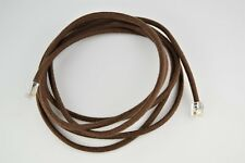Vintage Cloth Covered Telephone Line Cord - Brown - Modular - SKU - 30009