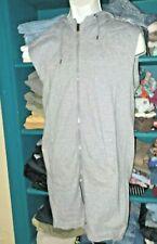 Mens Rebel Minds Split Tail Sleeveless Vest Hoodie Medium Gray NWOT