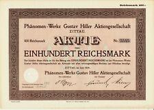 Phänomen-Werke Gustav Hiller AG Zittau - 100 RM - 1929 - nach 1945 VEB Robur