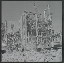 Vintage 1970s Film Negatives Building Destruction, PSA Plane, Boat Crane B&W