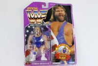 Hasbro WWF Hacksaw Jim Duggan Series 9 Purple Card Action Figure 1993