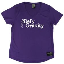 Adrenaline Addict - Defy Gravity - Dry Fit Breathable Sports V- NECK T-SHIRT