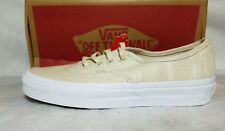 VANS New Authentic Hemp Linen Turtledove Tan White Canvas SK8 Women Shoe Size 5