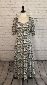 Vintage 90's Floral Maggie Lawrence Collection Dress Large