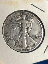 🌟 1942 S Walking Liberty Silver Half Dollar ☆☆ Circulated ☆☆ (f16)