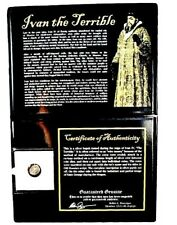 Ivan the Terrible Silver Kopek Coin In Album,With Story, And Certificate