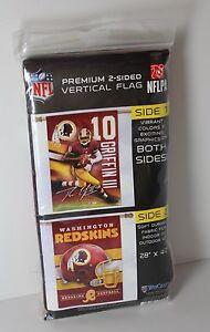 "Washington Redskins Robert Griffin III 28"" x 40"" 2 Sided Flag NFL WinCraft NEW"
