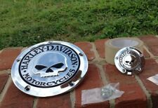OEM Harley Touring Softail Dyna Willie G Skull Derby & Timer Cover Twin Cam