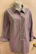 NWOT Lauren 100% Cotton Lavender Shirt 3X