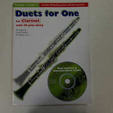 garth rickard DUETS FOR ONE clarinet + CD