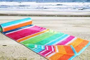 Extra Large Beach Towel - 100% Cotton Velour Bath Sheet Holidays Jumbo