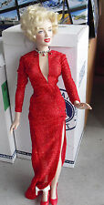 "RARE Franklin Mint Vinyl Marilyn Monroe Sample Doll 15"" Tall LOOK"