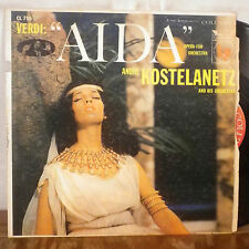 Andre Kostelantetz Verdi Aida Opera for Orchestra LP Columbia 6 eye mono VG+