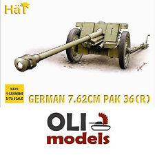 1/72 WW2 German 7.62cm PaK 36(R) Gun (Set of 4) - HaT 8156