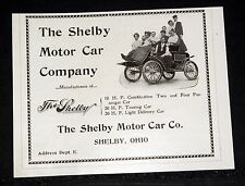 1903 OLD MAGAZINE PRINT AD, THE SHELBY 20 H.P. TOURING CAR & LIGHT DELIVERY CAR!