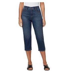 Gloria Vanderbilt Ladies' Amanda Capri Dk Blue Wash SLIMMING EFFECT Sizes: 4-8