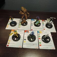 Heroclix Guardians of the Galaxy Rare Lot of 7 Figures w/Cards in N.M. Condition