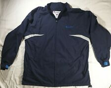 Authentic Navy Blue Reflective Vintage Champion Windbreaker Mens Size XXL