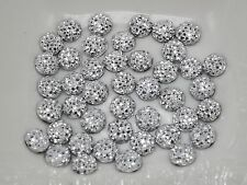 500 Silver Round Flatback Resin Dotted Rhinestone Gem beads 6mm