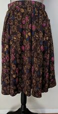 NWT Lularoe Madison XS Brown with Flowers Flare Skirt HTF 97% Poly 3% Spandex