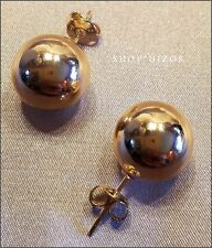 CLASSIC GOLD BALL LARGE 18 MM STUD EARRINGS NEW USA SELLER