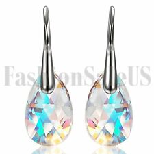 2pcs Women Girls Drop Earrings Made with Swarovski Elements Crystals Aurora Stud
