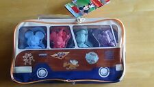 Disney Mickey Mouse & Friends Figure Chalk Set in Surf's Up Bus Carry Case NEW