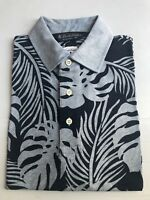 NWT BROOKS BROTHERS 1818 MEN'S ORIGINAL FIT COTTON_LINEN  S/S POLO SHIRT $79.50