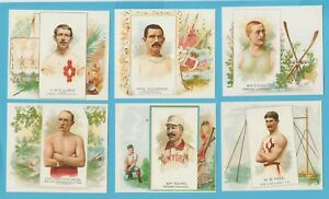 Allen & Ginter cigarette cards - THE WORLDS CHAMPIONS 2nd series mint full set.