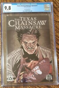 CGC 9.8 TEXAS CHAINSAW MASSACRE SPECIAL #1 GLOW IN THE DARK COVER