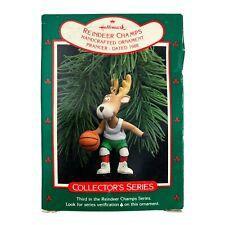 Hallmark Prancer Vintage Keepsake Ornament 3rd in Reindeer Champs Dated 1988
