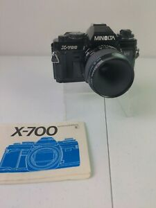 Minolta X-700 MPS 35mm SLR Camera w 50mm f/2 Lens & Manual Great Condition