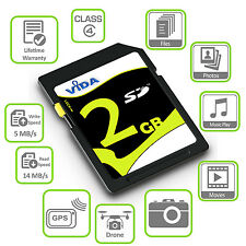 VIDA 2GB 4GB SD SDHC Flash Memory Card For Digital SLR Camera High Speed Class