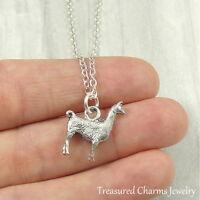 Silver Llama Charm Necklace - Alpaca Llama Pendant Jewelry NEW