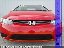 GTG, 2006 - 2008 HONDA CIVIC 2DR 1pc BLACK BUMPER BILLET GRILLE KIT coupe