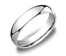 MENS PLATINUM WEDDING BAND 5mm Comfort Fit