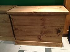 Rustic Pine Wooden Chest Trunk Blanket Box Toy Box (MADE TO ANY SIZE)