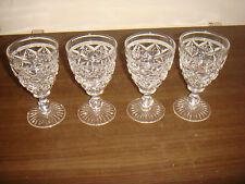 VINTAGE SET OF 4 STUART CRYSTAL SHERRY GLASSES 11.5CM TALL