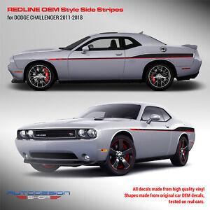 Dodge Challenger REDLINE Style Side Stripes for 2011 - 2019