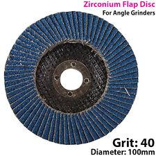 100mm Grain 40 Zirconium Rabat - Disque pour Meuleuse Angle - Meulage Métal