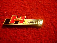 """NEW HURST EQUIPPED SHIFTERS VINTAGE HOT ROD MUSCLE CAR TRUNK DECKLID EMBLEM 3.5"""""""